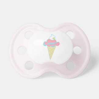 Pink Blue Swirl Star Ice Cream Cone Pacifiers