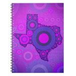 Pink Blue Texas Mosaic Spiral Notebook