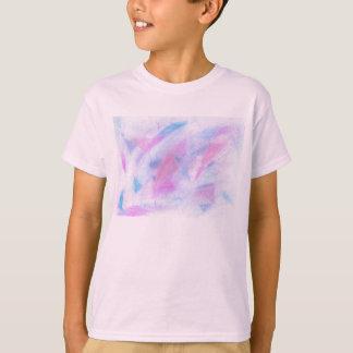 Pink Blue Texture T-Shirt