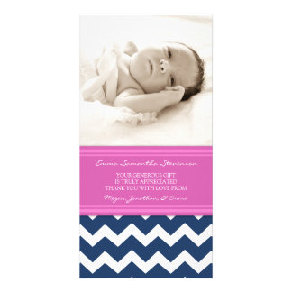 Pink Blue Thank You Baby Shower Photo Cards