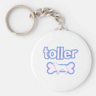 Pink & Blue Toller Keychain