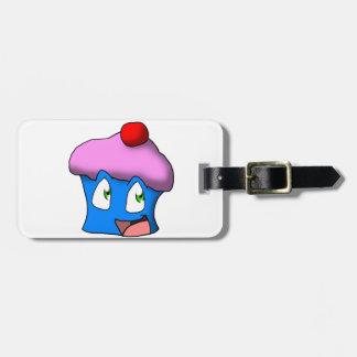 Pink/Blue Toon Cupcake Bag Tag
