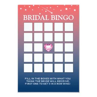 Pink & Blue Twilight Bridal Shower Bingo Cards Custom Invitations