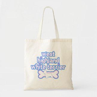 Pink & Blue Westie Tote Bag