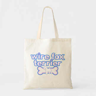 Pink & Blue Wire Fox Terrier Tote Bag