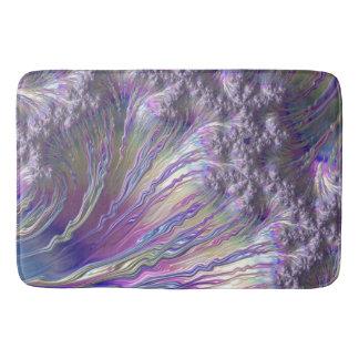 Pink Blue Yellow Frax Abstract Fine Fractal Art Bathroom Mat