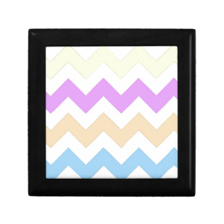 pink, blue, yellow pastel color zigzag strips keepsake boxes