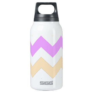 pink, blue, yellow pastel color zigzag strips SIGG thermo 0.3L insulated bottle