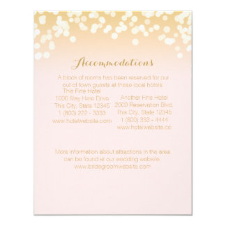 Pink Blush and Gold Sparkle Information Card