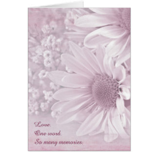 Pink Blush Daisy bouquet Card