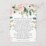 """pink blush floral wedding honeymoon fund card<br><div class=""""desc"""">A beautiful pink blush floral and greenery wedding honeymoon fund card. Edit the available text fields to suit your requirements, to create the perfect wedding suite. Visit my shop to purchase other items and stationery in this collection, such as invitations, favour stickers, information card, table numbers etc! Perfect for weddings...</div>"""
