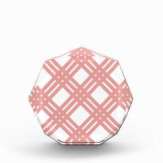 Pink Blush Gingham Acrylic Award