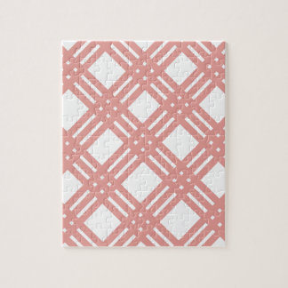 Pink Blush Gingham Jigsaw Puzzle