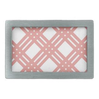 Pink Blush Gingham Rectangular Belt Buckle