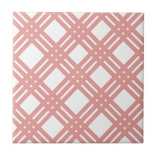 Pink Blush Gingham Tile