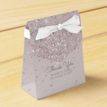 Pink Blush Glittery Wedding Favor Gift Box