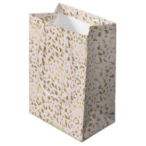Pink Blush Gold Animal Print Medium Gift Bag