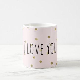 Pink Blush Gold Sparkle Confetti Coffee Mug