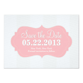 Pink Blush Modern Save the Date Announcement