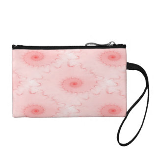 Pink Blush Nautilus Abstract Coin Wallets