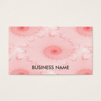 Pink Blush Nautilus Abstract Business Card