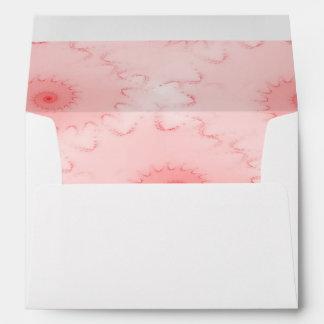 Pink Blush Nautilus Abstract Envelope
