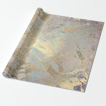 McTiffany Tiffany Aqua Pink Blush Painting Amethyst Gold Marble Shiny VIP Wrapping Paper