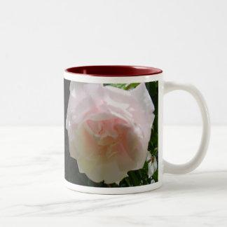 Pink Blush Roses & Rosemary Two-Tone Coffee Mug