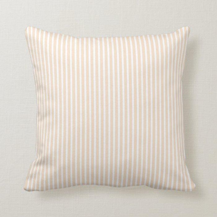 Blush Pink Decorative Pillows : Pink Blush Striped Decorative Pillows Zazzle