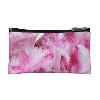 Pink Boa Makeup Bag