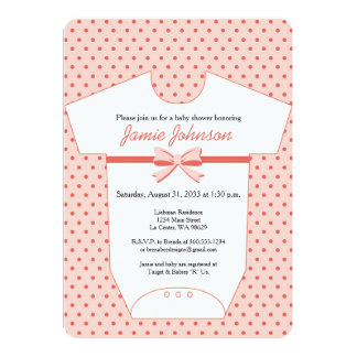 Pink Body Suit Baby Shower Invitation