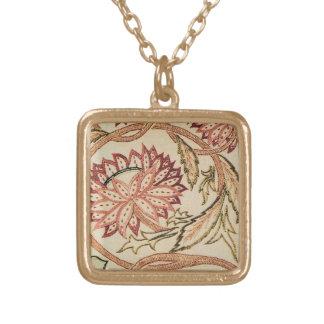 Pink Bohemian Flowers Custom Necklace