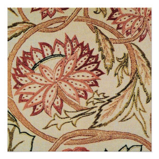 Pink Bohemian Flowers Poster