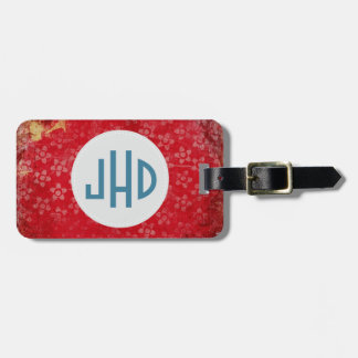 Pink Boho Custom Monogram Luggage Tag