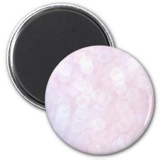 Pink bokeh 2 inch round magnet