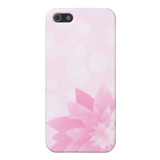 Pink Bokeh Flower iPhone 5 Cases