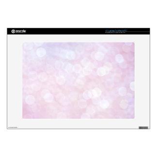 Pink bokeh laptop skins