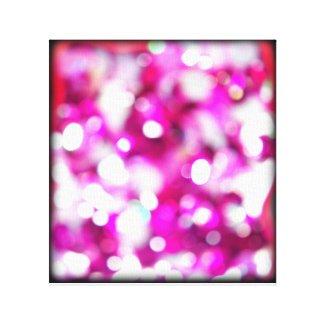 Pink Bokeh Macro Glitter Canvas