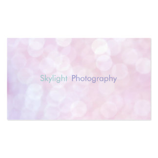 Pink Bokeh Photography Business Cards