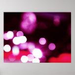 Pink Bokeh Poster
