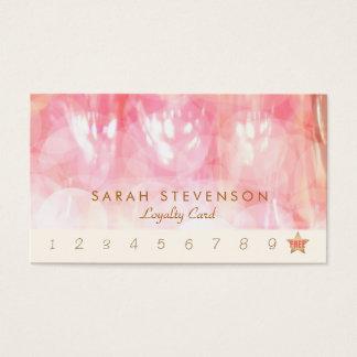 Pink Bokeh Spa and Salon Loyalty 10 Punch Card