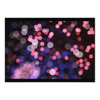 "Pink bokeh texture 5"" x 7"" invitation card"