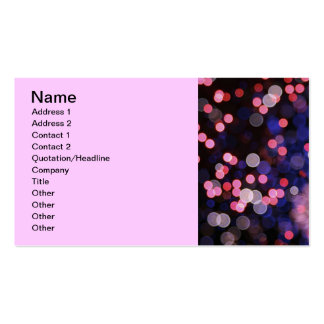 Pink bokeh texture Double-Sided standard business cards (Pack of 100)