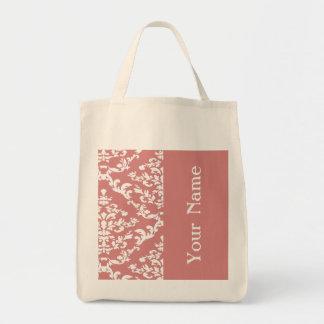 Pink Bold Damask w/ name @ Emporiomoffa Tote Bag
