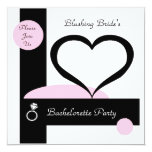 Pink Bold Stripe Bachelorette Party Custom Invitations