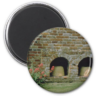 Pink Boles let into the walls for Bee Skips, Packw Magnets