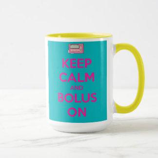 "Pink ""Bolus On"" mug"