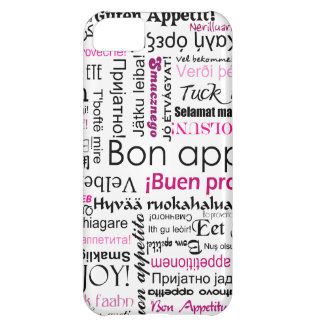 Pink Bon appetit in many languages Case For iPhone 5C