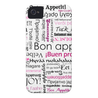 Pink Bon appetit in many languages iPhone 4 Case