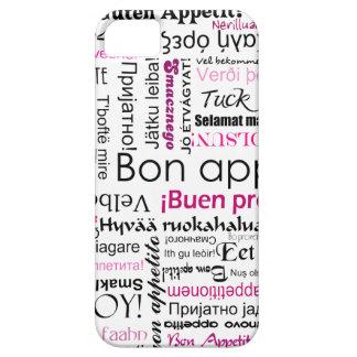 Pink Bon appetit in many languages iPhone SE/5/5s Case